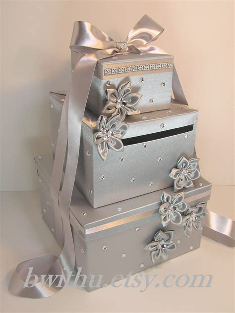 Wedding Card And Boxes by Wedding Card Box Silver Gift Card Box Money Box