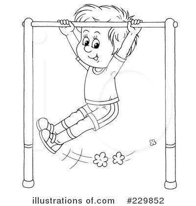monkey bar coloring page monkey bars clipart 229852 illustration by alex bannykh
