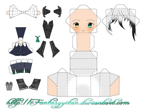 Chibi Anime Papercraft - amour sucre chibi lysandre papercraft by fantasyyitan on