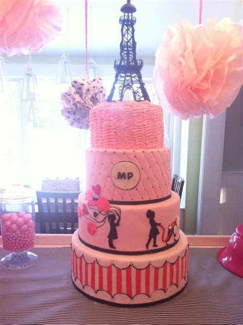 gmail themes paris paris themed cake for 5 and 3 year old sisters