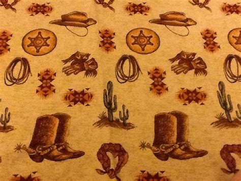 Western Upholstery by Stroheim Romann Western Cowboy Theme Rich Chenille