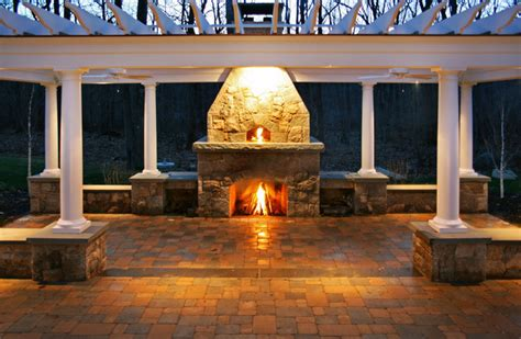 Oven Fireplace by Pizza Oven Fireplace Trellis Patio Traditional