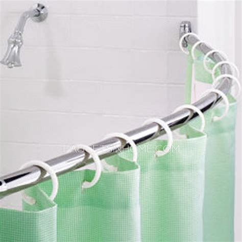 flexible shower curtain rod thicken stainless steel 41 72 8 inch flexible shower
