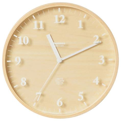 scandinavian wall clock lemnos sunny birch clock wall clocks houzz