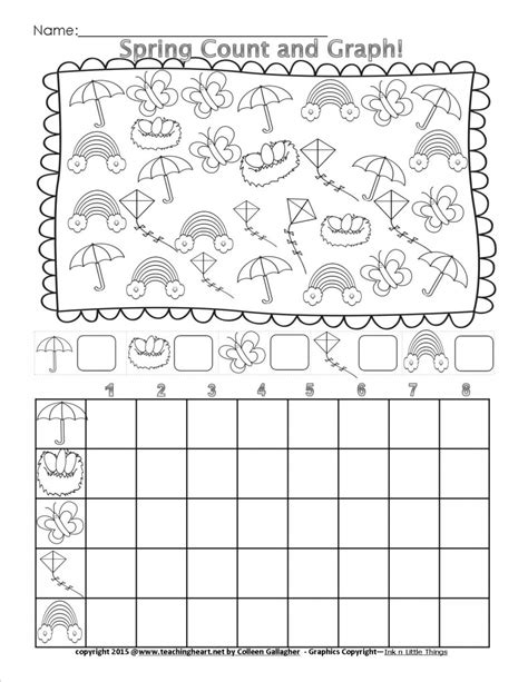 printable graphs for preschoolers spring count and graph free teaching heart blog