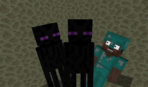 How To Make A Minecraft Person Out Of Paper - person enderman minecraft animation