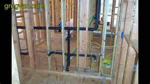 bathroom stud wall construction plumbing waste pipes that create problems for wall framing