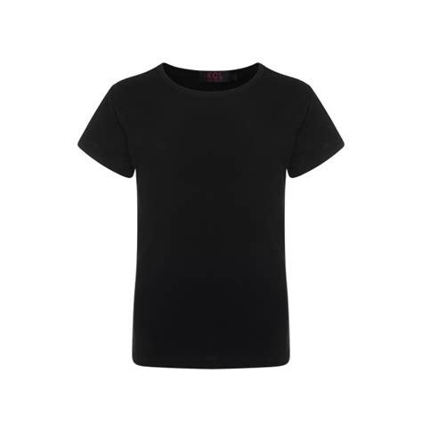 Kidz, Corner, London, UK, Wholesale, Girls, Black, Plain, Short, Sleeve, Kids, Crew, Neck, T Shirt