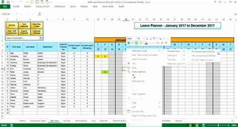 staff planner excel template 11 staff planner excel template exceltemplates