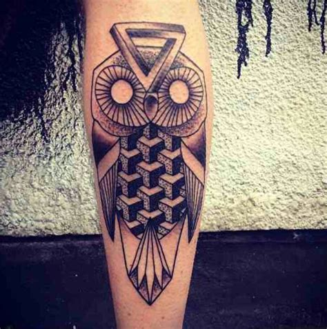 geometric owl tattoo geometric owl owl