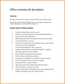 5 job responsibilities of office assistant ledger paper