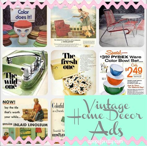 home decor vintage ads pin it a pop of pretty