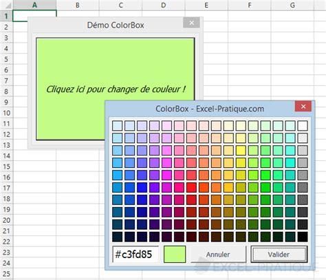 fonction vba colorbox