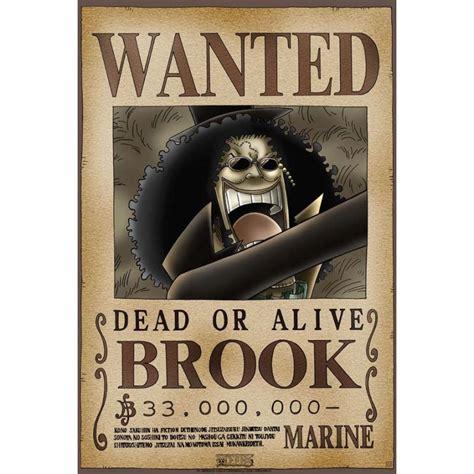 Kaos Anime Brook Wanted One Bounty poster avis de recherche brook one