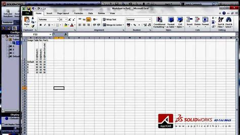 how to a design table in solidworks solidworks configuration design table