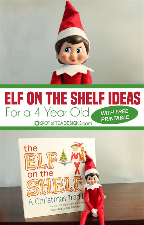 On The Shelf Year on the shelf ideas for 4 year olds with printable