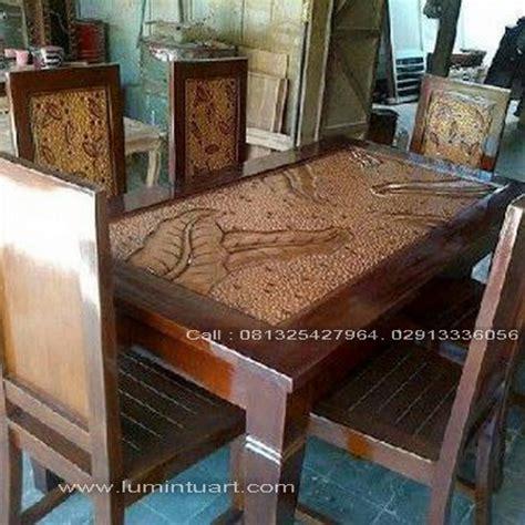Meja Makan Jati Minimalis 4 Kursi kursi meja makan kayu jati minimalis jepara daun set 6