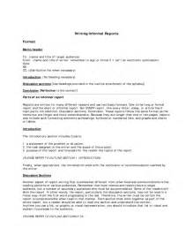 informal report writing format free download