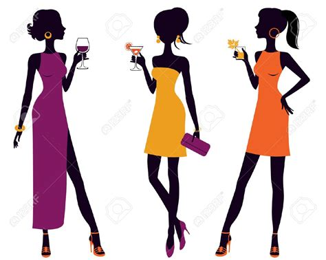 cocktail party silhouette vintage cocktail party clipart clipground