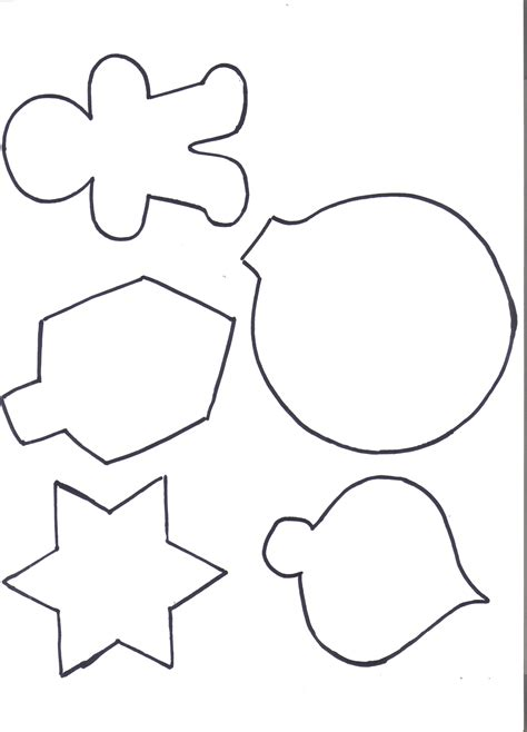 christmas decorations cutouts free ornaments cutouts