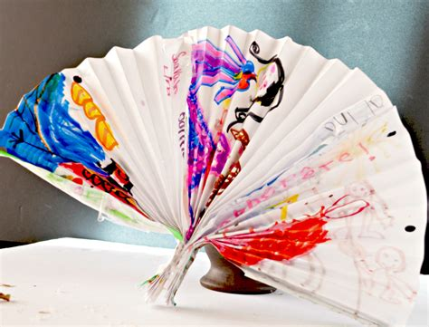 Paper Craft For Kid - make a decorative fan paper craft for