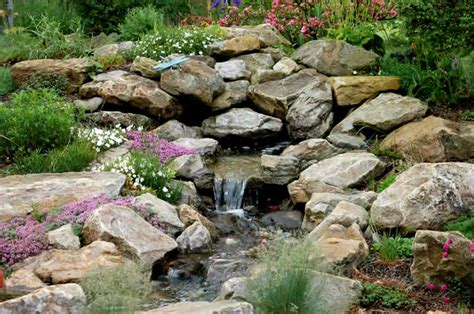 rock water features for the garden berm rock garden farm