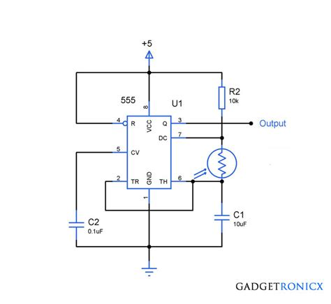 simple ldr circuit diagram light to frequency converter circuit using simple light