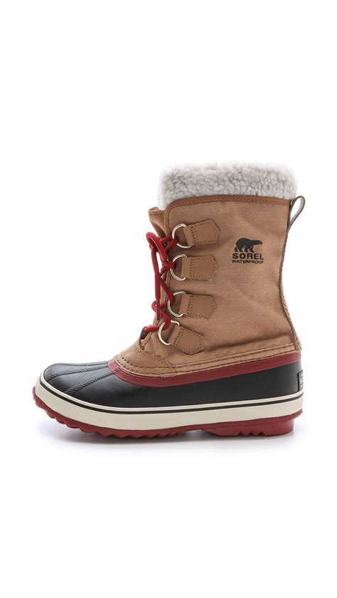 sorel shoes lyst sorel winter carnival boots pewter black in brown