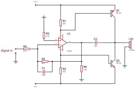 100 Watts Audio Lifier Circuit Diagram