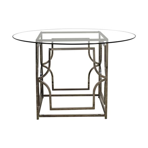 Abigail Dining Table 58 Z Gallerie Z Gallerie Abigail Glass And Chrome Dining Table Tables