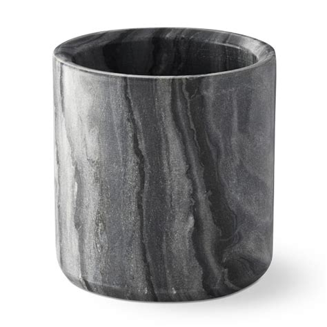 Countertop Utensil Holder by Grey Marble Partitioned Utensil Holder Williams Sonoma