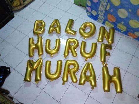 Balon Huruf Gold Grosir 1 Pak Isi 50 Balon balon huruf murah jual balon huruf murah balon huruf murah jakarta balon foil balon