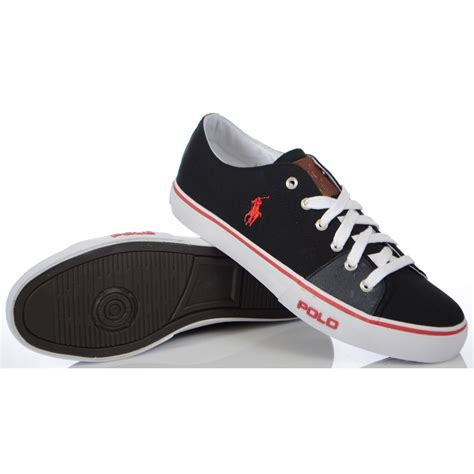 ralph shoes ralph shoes cantor low ne black canvas trainer