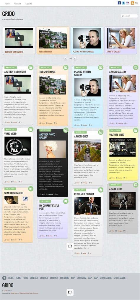 wordpress themes like tumblr free responsive tumblr like theme grido