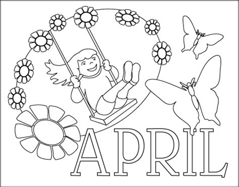 Coloring Pages April Spring Time Coloring Pages Collections April Coloring Pages