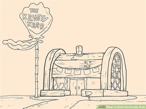 how to draw the krusty krab with pictures wikihow