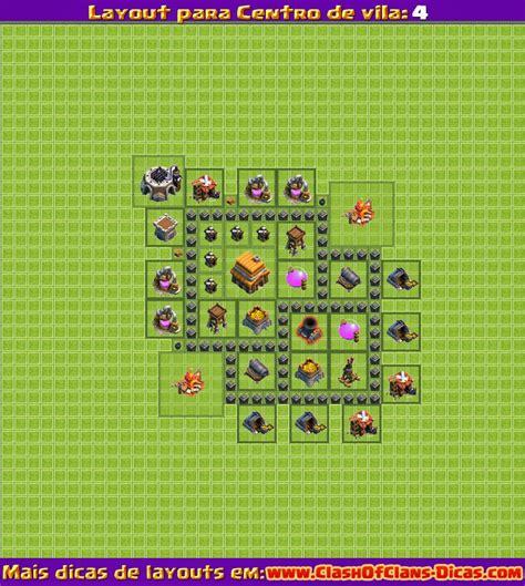 layout vila nivel 4 clash of clans melhores layouts para clash of clans centro de vila n 237 vel