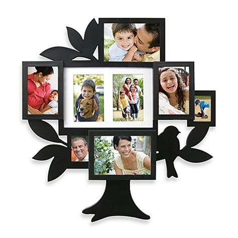 family collage photo frames 8 picture family tree collage frame bed bath beyond