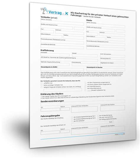 Kostenlose Vorlage Checkliste Kostenlose Vorlage F 252 R Einen Kfz Kaufvertrag
