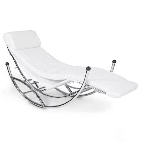 chaise a bascule blanche chaise longue dodo 192 bascule couleur blanche