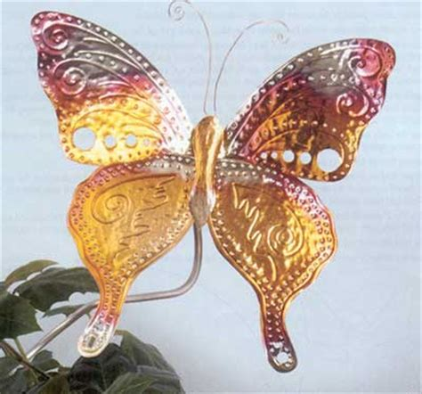 copper sheet craft ideas projects butterfly garden stake