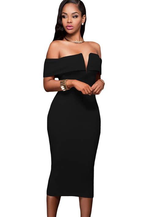 Rosie Slit Dress rosie back slit bardot dress new in