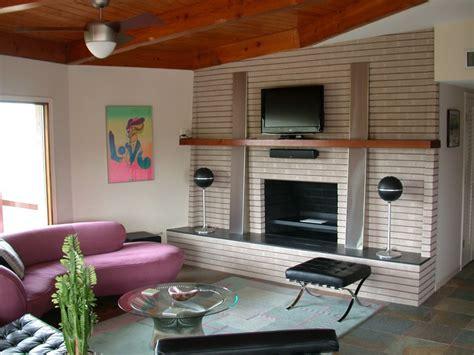 mid century modern fireplace mantel renovated mid century fireplace homebuilding