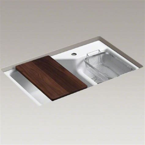 Kohler Undermount Kitchen Sink Kohler Indio Undermount Cast Iron Kitchen Sink Inc Smart Divide 6411