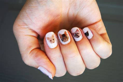 Cat Nail Sticker diy cat nail decals diy in pdx