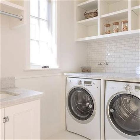 Shelf Between Washer And Dryer by Open Shelves Above Washer And Dryer Transitional