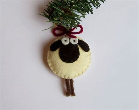giorgio the sheep ornament felt natal ornaments and navidad