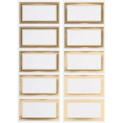 rectangle printable tags gold foil rectangle labels paper source