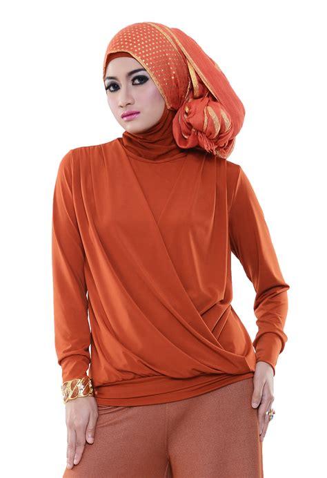 Baju Atasan Wanita Anstey Jersey Silang Magenta baju atasan bagus