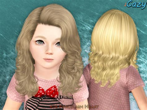 sims 3 child hair cazy s porcelain heart hairstyle set